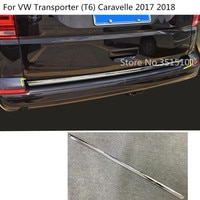 Car Stick Body Cover ABS Chrome Rear Door Tailgate Frame Trunk Plate Trim For VW Transporter (T6) Caravelle 2017 2018 2019