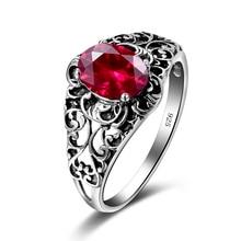 Bague de Cocktail femme de luxe classique 925 en argent Sterling creux papillon CZ bague de doigt créé topaze rubis bijoux en pierre précieuse