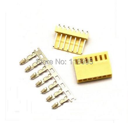 Envío Gratis 50 sets/paquete KF2510-7W (curva needlet + shell + terminal) terminal de aguja curva de enchufe de 2,54mm/ángulo recto 90
