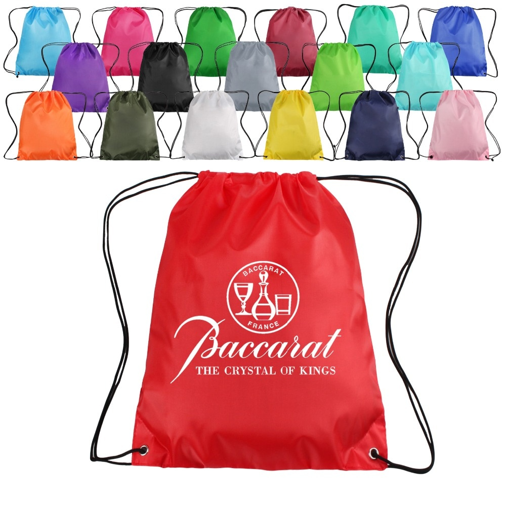 Wholesale High Quality Recycled Custom Logo Polyester Drawstring Backpack Bag
