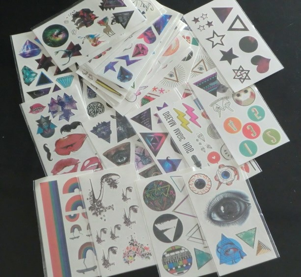 New Arrive factory hot sale Mixed Type  Temporary tattoo sticker water transfer tattoo 50sheet/lot  7.3*13.2cm