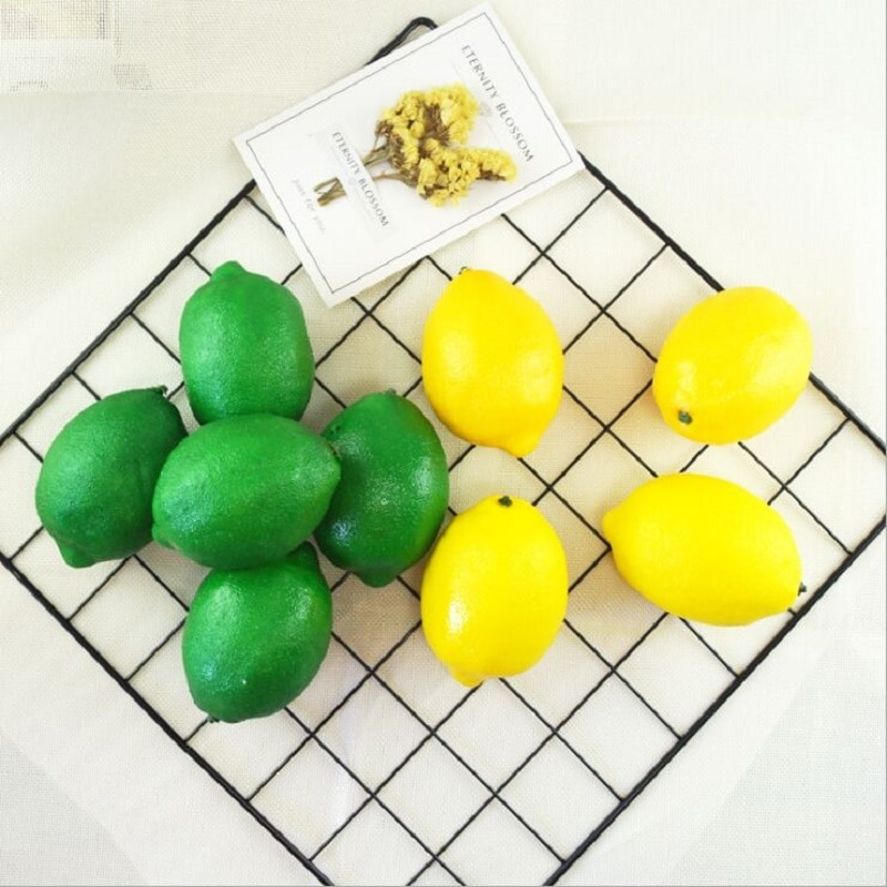 artificial lemon foam and plastic material artificial fruit fake fruit fake lemon Decorative shooting props No.190024