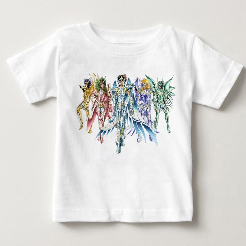 Oro Saint Seiya personaje estrella T camisa verano de los niños de...