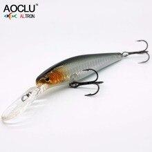Aolu nova isca wobblers 90mm 13g duro minnow manivela isca de pesca de água salgada baixo fresco vmc ganchos 6 cores enfrentar