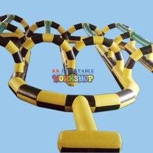 Jeu de piste gonflable bon marché de piste de voiture gonflable pour la piste de course de boule gonflable de boule de zorb