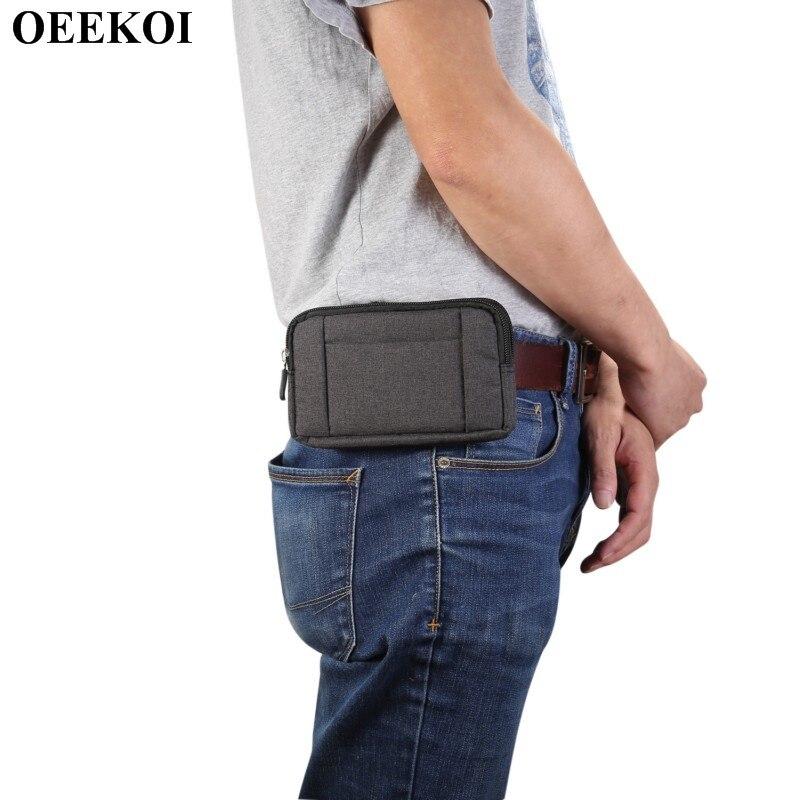 OEEKOI Universal Denim Clip de cinturón deporte bolsa caso para Coolpad bien cambiador de 1C/Mega 3/Nota 5/ modena 2/Cool1 dual/Torino/Mega