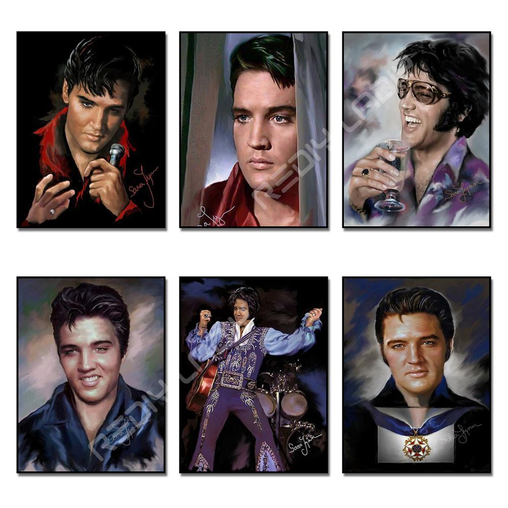 DIY Diamond Mosaic Elvis Presley Diamond Painting Cross Stitch Full Square/Round Drill Diamond Embroidery Wall Arts & Crafts