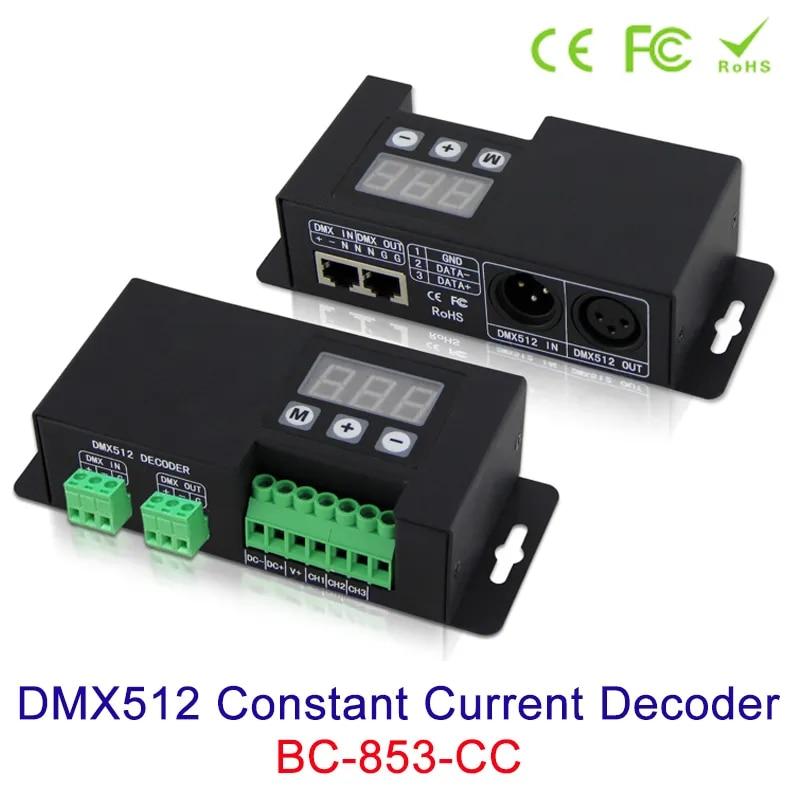 DMX512 3CHคงที่ถอดรหัส12V 24V 48VอินพุตสัญญาณDMX512/1990 LED Controller 350mA 700mA 1-3ช่องสัญญาณเอาต์พุตPWMใหม่