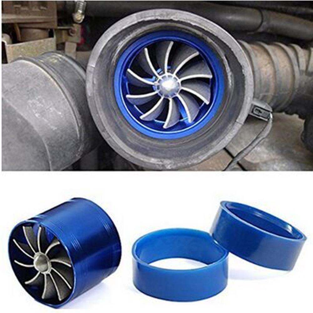 Cargador Universal de Gas de combustible de coche supercargador Turbo de entrada de aire de un solo ventilador