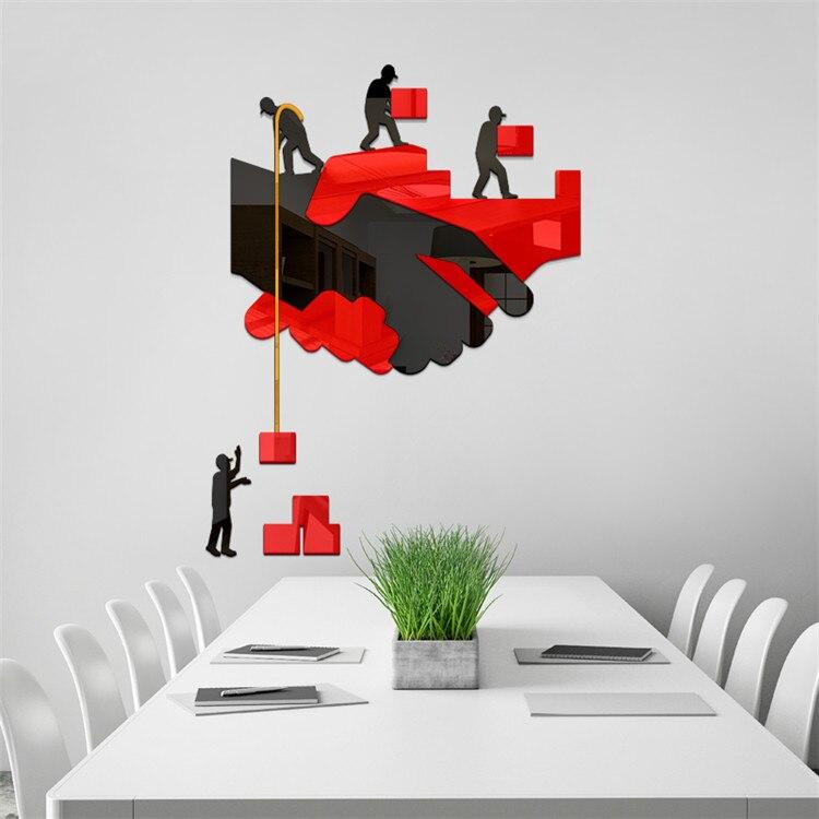 Пользовательские офисные 3D акриловые настенные наклейки компания корпоративная