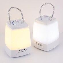 USB Rechargable led bluetooth lautsprecher innen zimmer nacht lampe/hing handheld hing lampe nacht beleuchtung