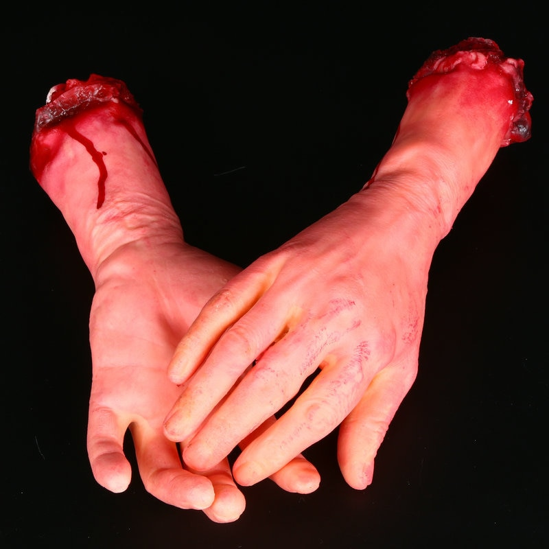 1pcs Halloween props horror prosthetics limbs palm scary whole body toys free shipping