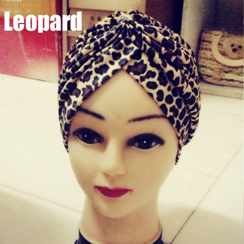Moda 2020 turbante de quimio de leopardo dorado, gorro de Yoga para la cabeza, gorro de baño, nuevos estilos, bandas de cabello para mujeres, accesorios para la cabeza TY66