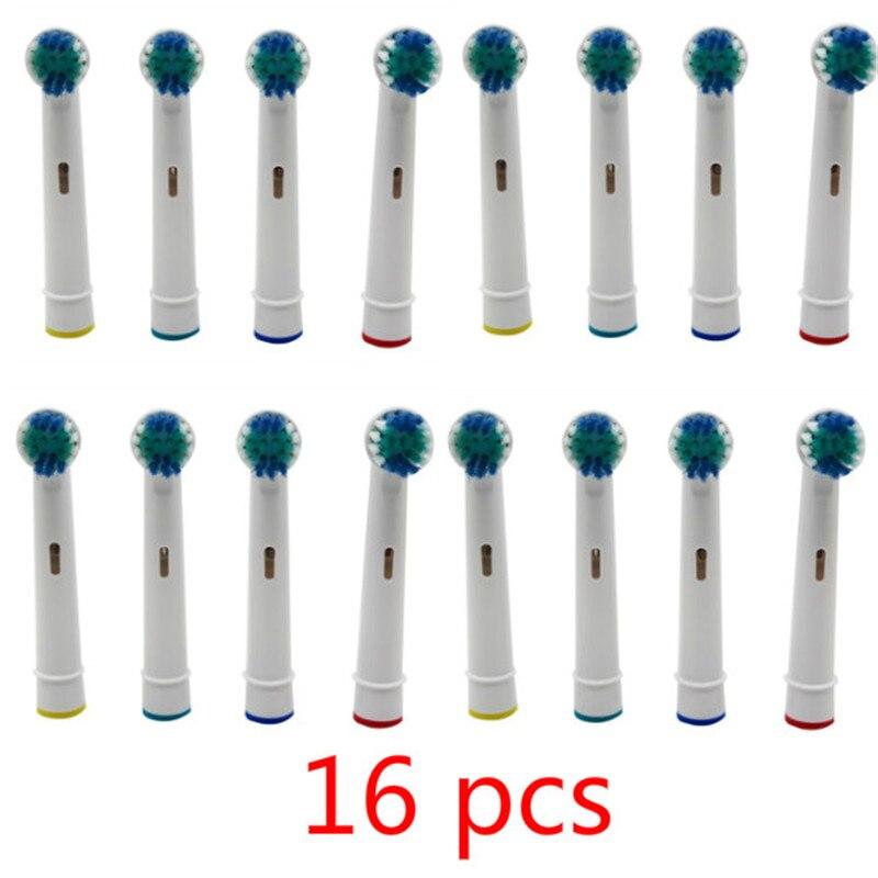 Cabezales de repuesto para cepillo de dientes, cepillo de dientes eléctrico para limpieza de higiene bucal, cuidado profesional, 16 unidades