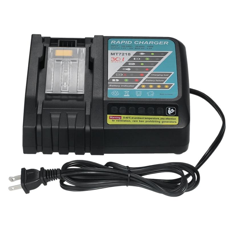 Mt7218 6.5a carregador de bateria ferramenta elétrica de substituição para makita dc18rc dc18ra bl1830 bl1815 bl1840 bl1850 14.4v-18v li-ion batte