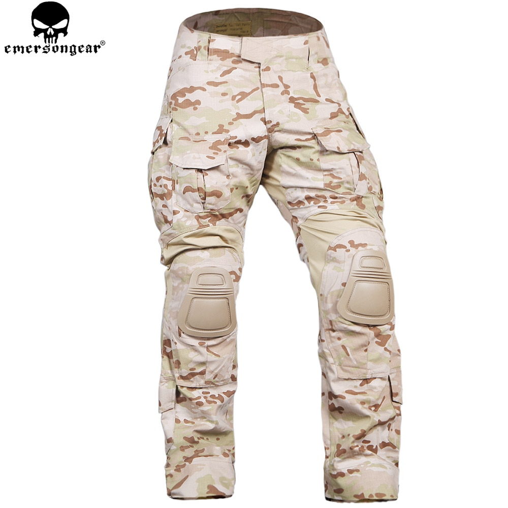EMERSONGEAR, армейские штаны с наколенниками, военные Aamy, для охоты, страйкбол, Wargame, брюки Emerson, штаны Мультикам, Arid, EM9351MCAD
