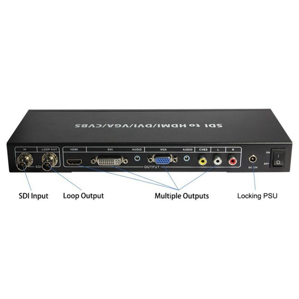 Jyttek  3G HD SDI to ALL Scaler Converter CVBS VGA DVI HDMI and Analog Audio
