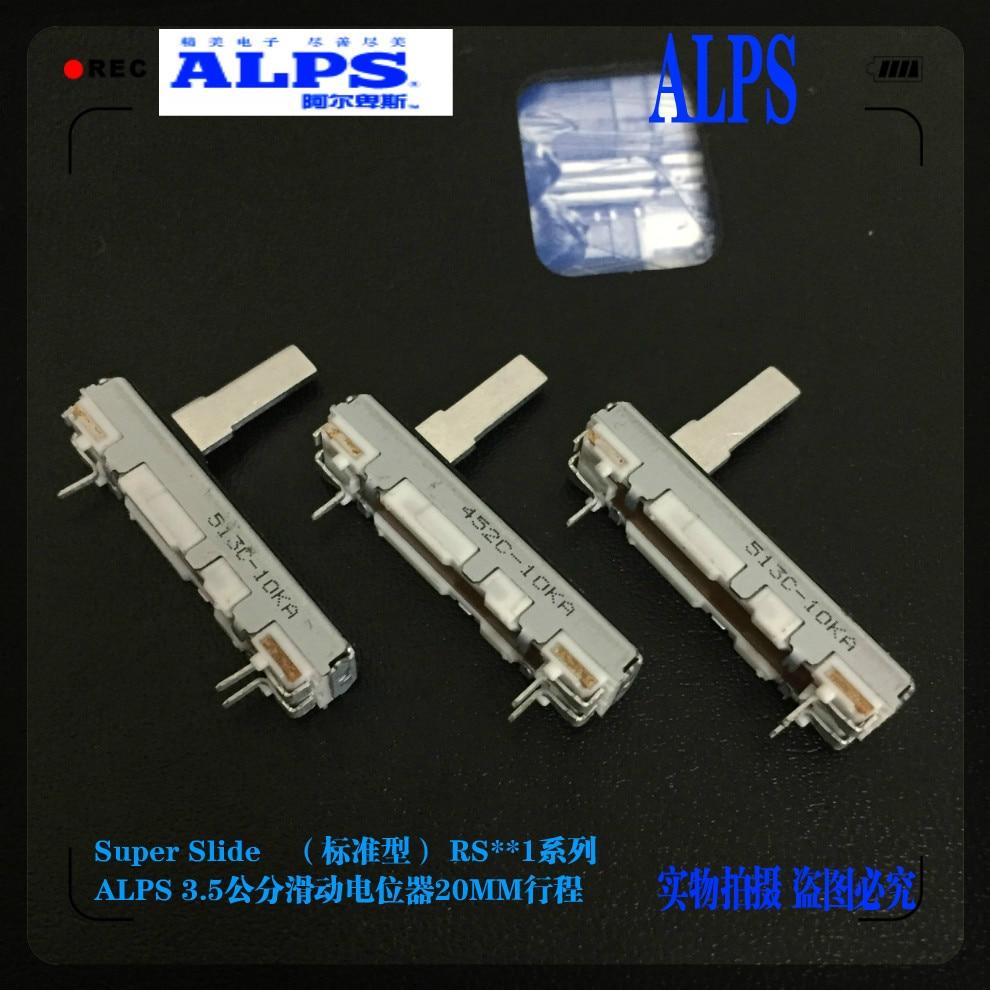 Interruptor Alps serie RS20 35mm 3,5 cm Mono A10K longitud de la manija 15 potenciómetro de deslizamiento mm micrófono ajuste de volumen Fader