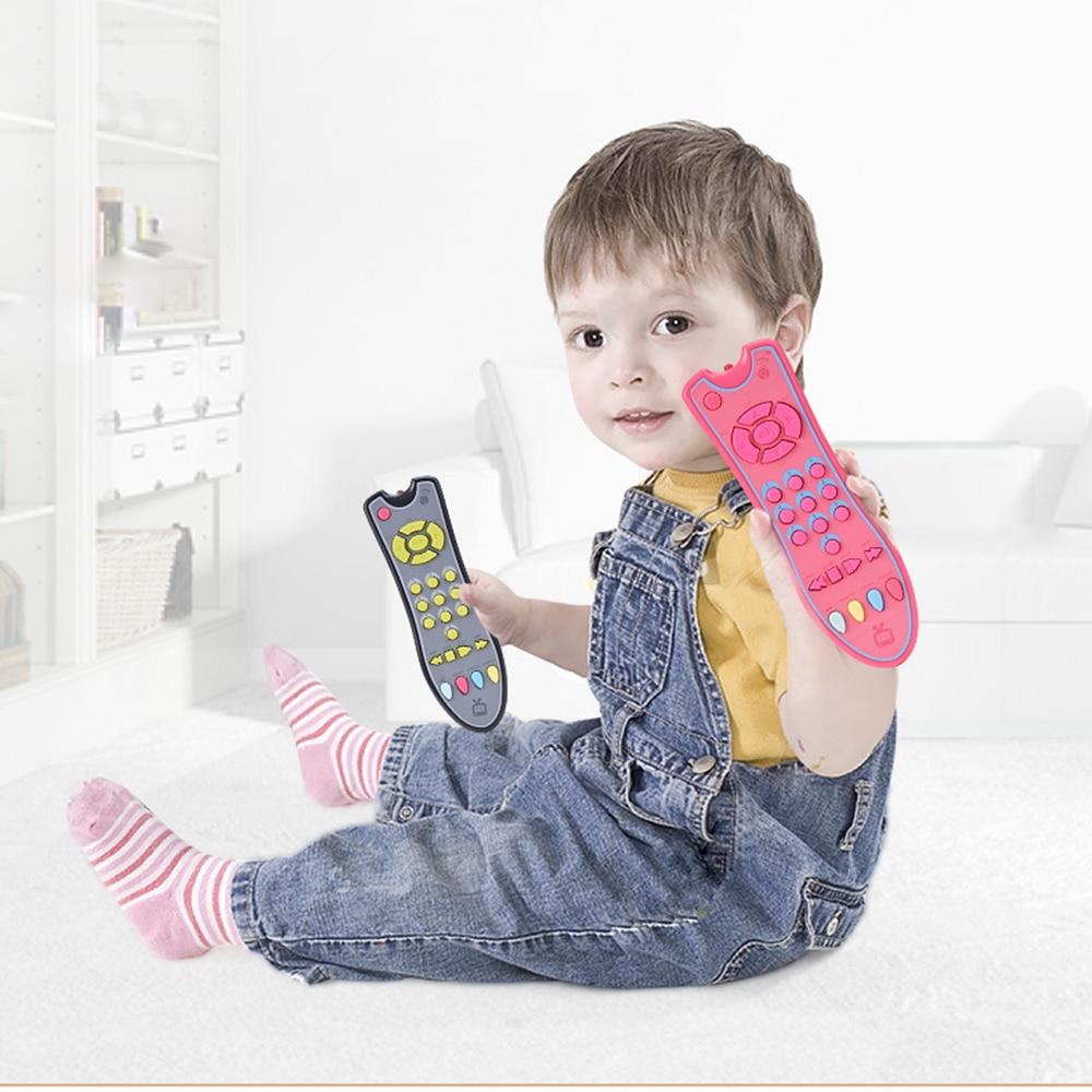 Детские игрушки, мобильный телефон, пульт дистанционного управления, Ранние развивающие игрушки, 3 языка, электрические номера, пульт диста...