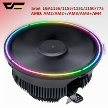 darkflash Aigo CPU Cooler Radiator Led  Heat Sink AMD Intel Silent 3Pin PC CPU Cooling Cooler Heatsink Fan LGA/115X/775/AM3/AM4
