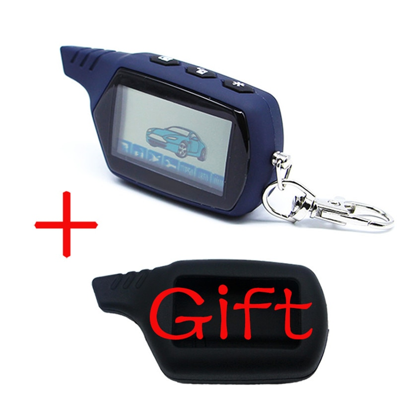 A61 2-way LCD Remote Control Key Fob Chain Keychain A61/B6 dialog Russian Vehicle Security Two Way C