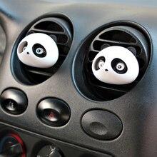 Автомобильный освежитель воздуха парфюм с милой пандой, 2 шт., 100 оригинальный автоароматизатор для украшения вентиляционного отверстия, аксессуары для ароматизаторов автомобиля