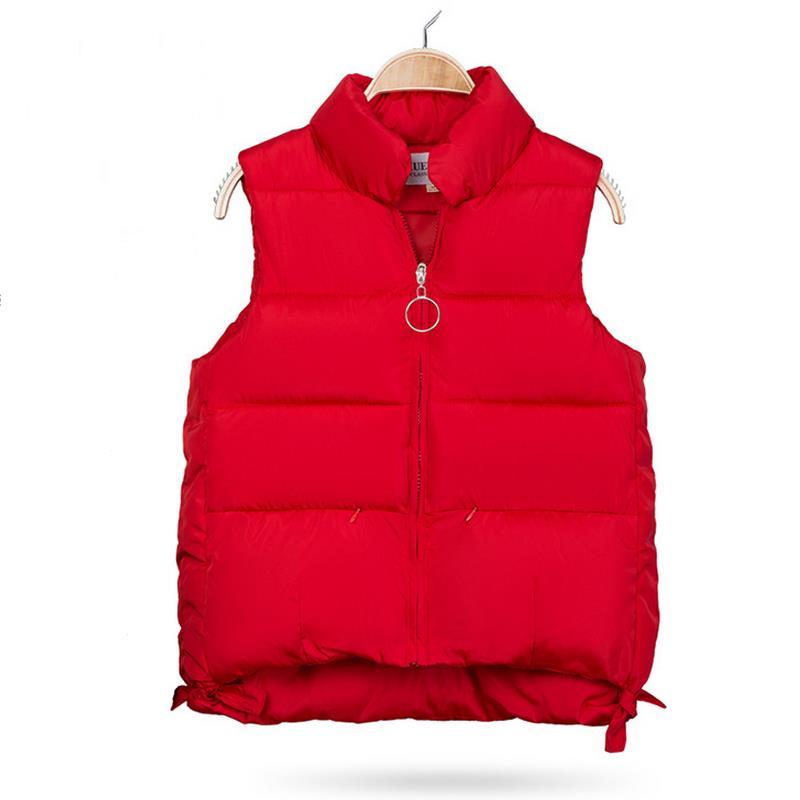 Otoño Invierno mujeres Femme Chaleco de algodón sin mangas chaqueta mujeres Cardigan Chaleco de talla grande S-2XL