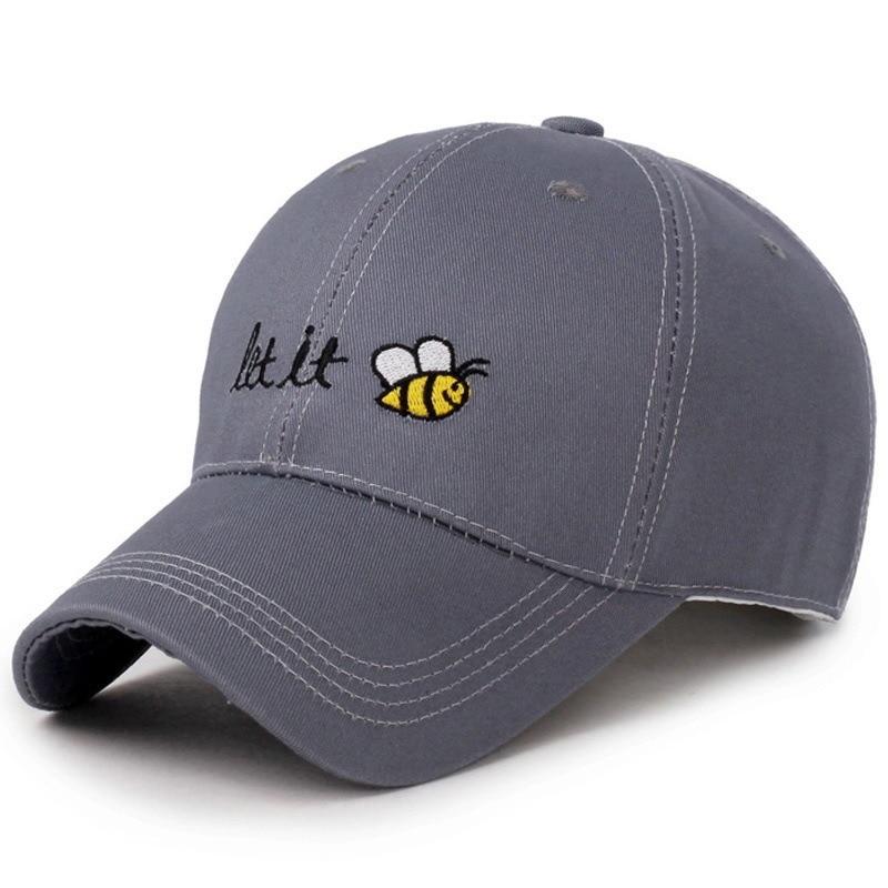 Gorra de béisbol de abeja de dibujos animados Let It Cool hombre sombrero verano Mujer dibujos animados sombrero de sol protección solar ama gorras de béisbol