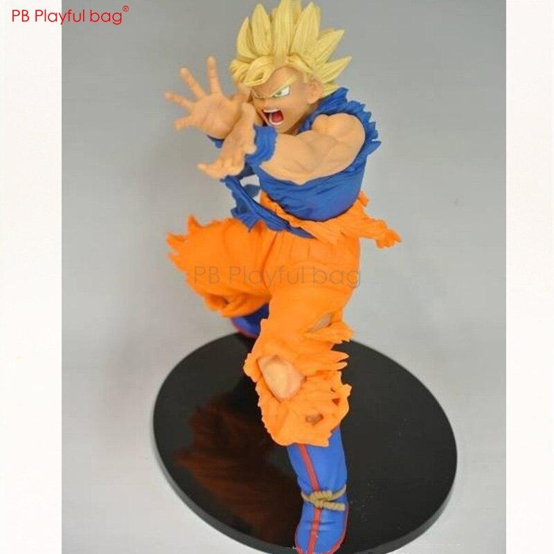 Figura de dragón Saiyan 1 Goku de 18CM, decoración de habitación, modelo de figura de acción coleccionable de PVC, juguetes, regalos de cumpleaños para niños HB27