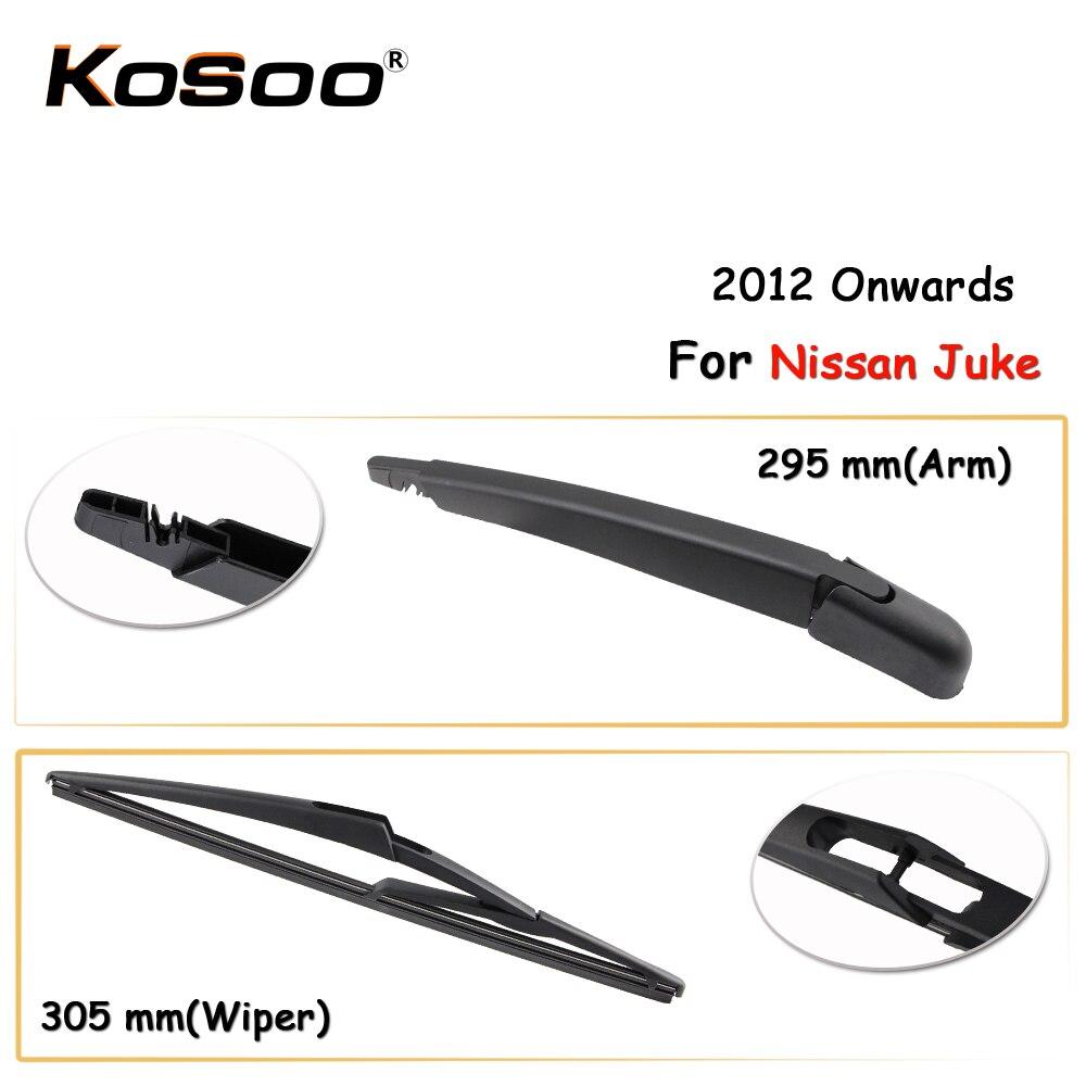 KOSOO Авто Задняя щетка автомобильного стеклоочистителя для Nissan Juke, 305 мм 2012 года задние оконные стеклоочиститель лезвия рычаг, автомобильные ...