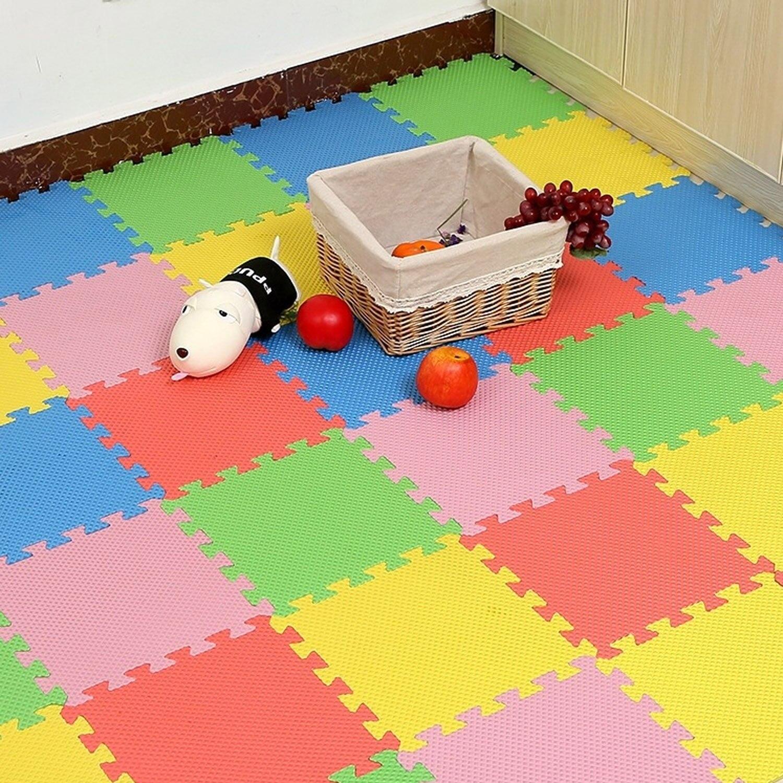 20 piezas colores surtidos bebé niño EVA espuma ejercicio azulejos juego rompecabezas esteras para niños pequeños niños alfombra del piso de sala Pad suministros
