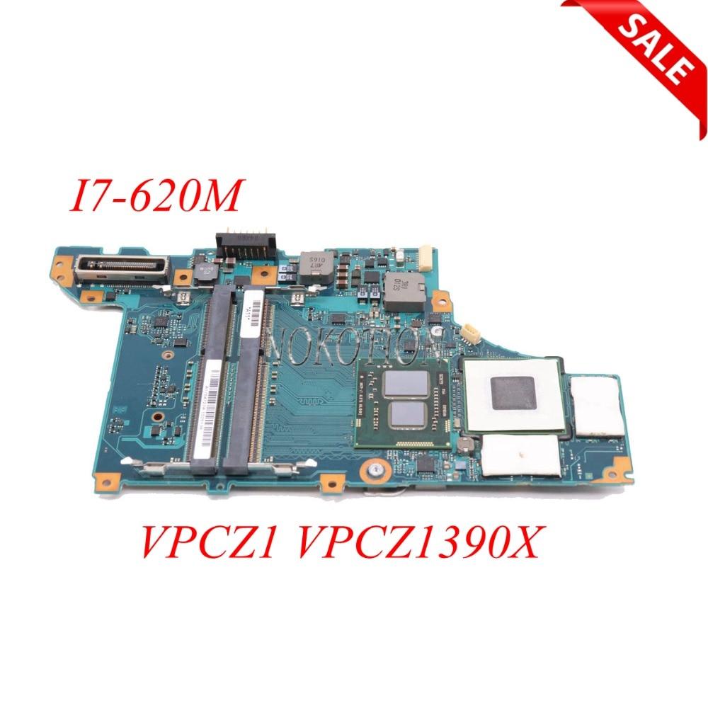 NOKOTION اللوحة لابتوب سوني Vaio VPCZ1 VPCZ1390X A1754727A A1789397A MBX-206 DDR3 I7-620M CPU اللوحة الرئيسية اختبار كامل