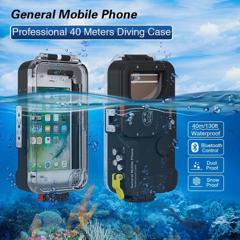 بلوتوث العالمي مقاوم للماء الهاتف البيت الحال بالنسبة آيفون هواوي شاومي سامسونج نوكيا LG سوني ZTE الغوص غطاء تحت الماء حقيبة