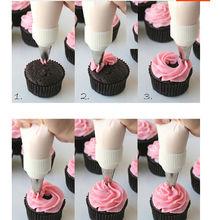 6Pcs Creative Cake Fondant Pastry Icing Cream Decorating Bag Piping Nozzles +1 Coupler