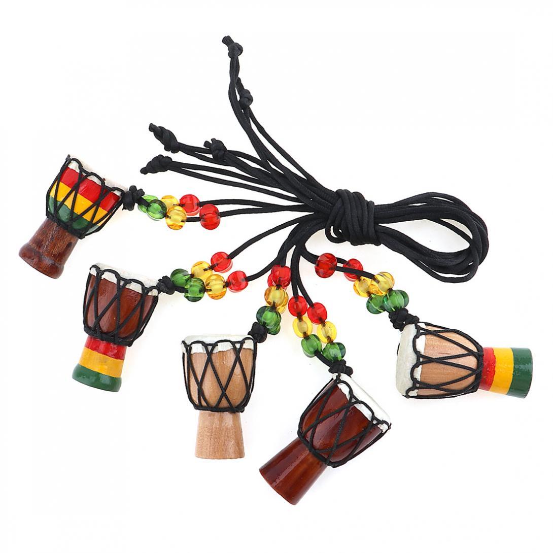 1 шт. африканская Подвеска Барабан мини барабанщик подчеркивающая