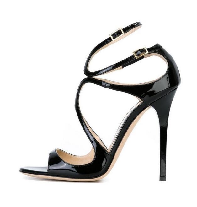 Morima Snc مثير صنادل عالية الكعب المفتوحة تو جلدية عبر تعادل الكعوب رقيقة أحذية امرأة مثير الكاحل حزام المصارع أحذية الصيف