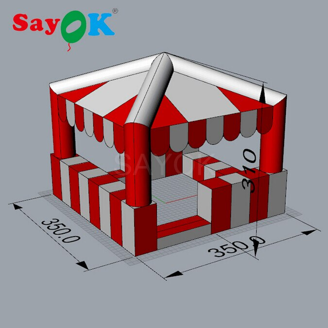 Sayok Inflatable Tent Inflatable kiosk 3.5x3.5x3 m Inflatable Standing Booth for Advertising Promotion Event