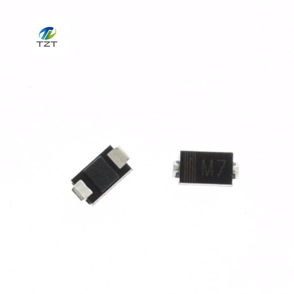 100 Uds. SMD 1N4007 IN4007 diodo rectificador 1A 1000V M7 IN4007 1N4007 4007 1A 1000V DO-41