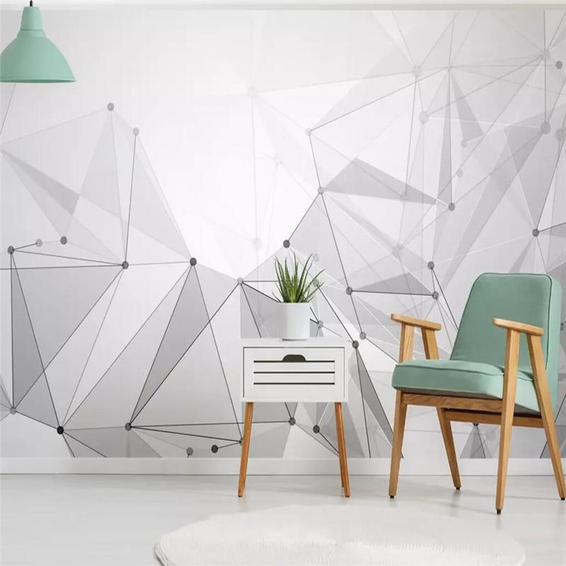 Papel pintado decorativo nórdico minimalista geometría abstracta imagen línea de fondo pintura de pared
