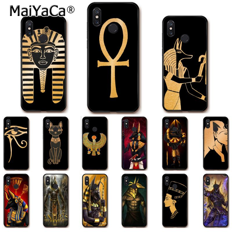 MaiYaCa artística Egipto Nefertiti Anubis Faraón funda de teléfono para Xiaomi Redmi8 4X 6A S2 7A 5A Redmi 5 5Plus Note5 7 Note8pro