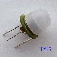 Livraison gratuite 2PC PM-7 miniature capteur de corps humain PIR Module infrarouge pyroélectrique capteur infrarouge sonde 20uA