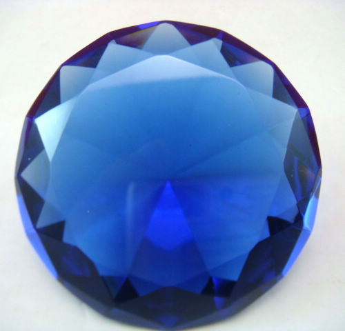 FENG SHUI - LARGE BLUE WISH FULFILLING JEWEL 80mm V1038