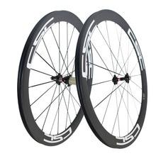 CSC U Shape 50mm clincher carbon bike wheels 25mm width bicycle wheel set basalt breaking surface
