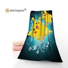 New arrival pokemon Face Towel/Bath Towel Custom Microfiber Fabric Towels Size 35x75cm, 70x140cm