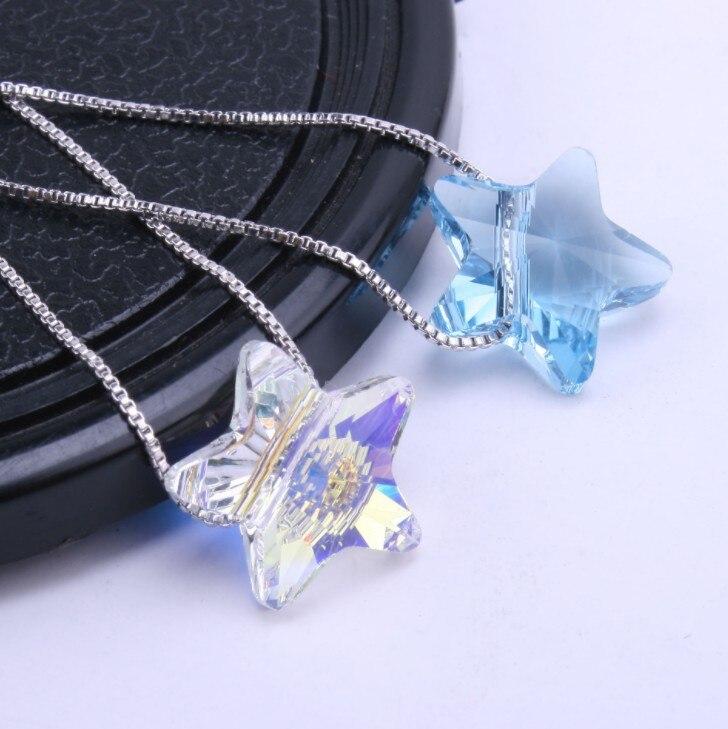 Joyería de moda de la mejor calidad, Cristales de Plata de Ley 925 de swarovsks, Collares colgantes para mujeres, Maxi Collares hechos a mano