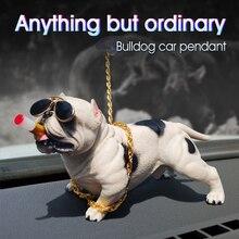 Auto Decoratie Hond Ornamenten Hars Bully Hond Pop Auto Interieur Accessoires Leuke Levendige Model Hond In De Auto