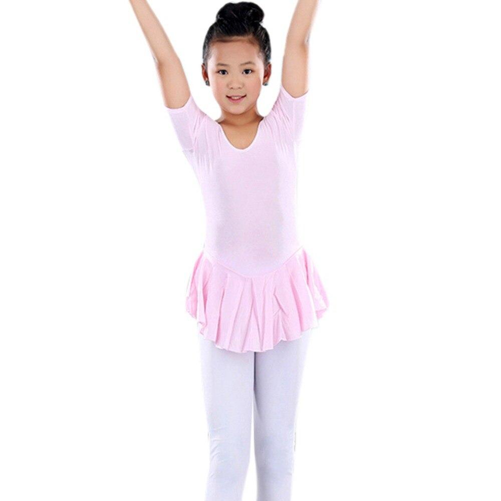 Kid 2-14Y Ballet Tutu Leotard Soft dresses Toddler Girl Gymnastics Dance Dress