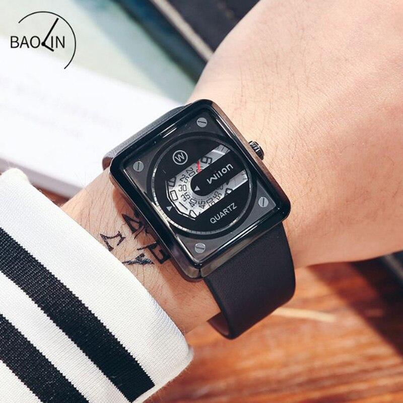 WILON Relógios 2018 dos homens Para Homens Homens Relógio Relogio masculino de Luxo Data Relógio de Negócio Masculino Quadrado 2018 Novo Saat reloj
