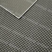 1 pièces 0.3mm épaisseur 500x250mm 250x250mm 500x600mm 100% feuille de panneau de plaque de Fiber de carbone avec 3 K Plaine Surface brillante darmure