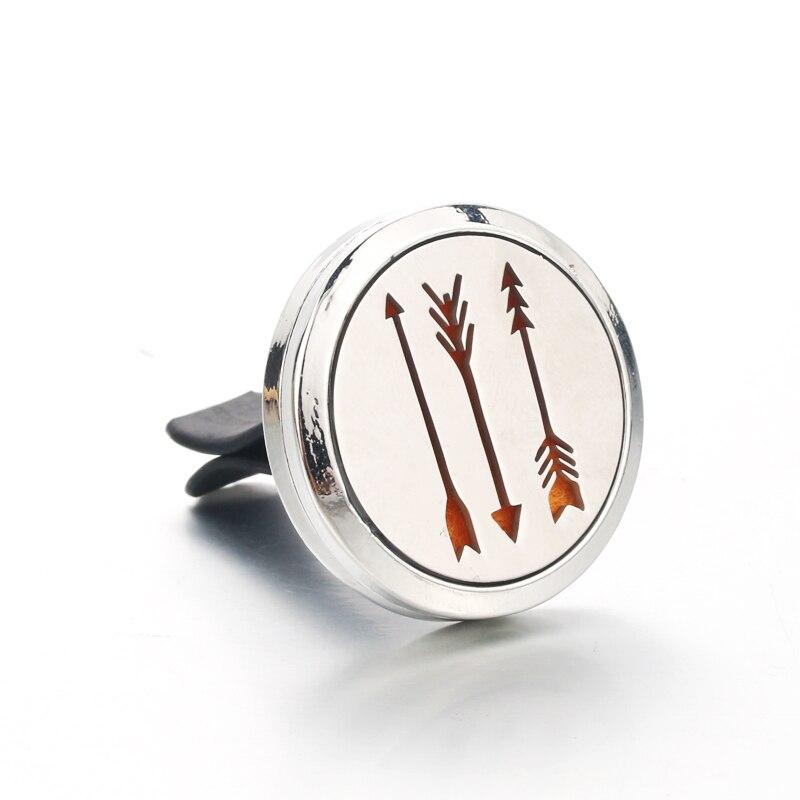 Difusor de aceite esencial de acero inoxidable Perfume de aire de coche ambientador aromaterapia difusor collar diseño de flechas Dropshipping